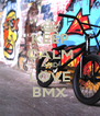 KEEP CALM AND LOVE BMX - Personalised Poster A4 size
