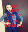 KEEP CALM AND LOVE BOŽENA - Personalised Poster A4 size