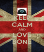 KEEP CALM AND LOVE BONE - Personalised Poster A4 size