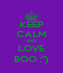 "KEEP CALM AND LOVE BOO :"") - Personalised Poster A4 size"