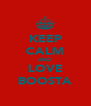 KEEP CALM AND LOVE BOOSTA - Personalised Poster A4 size