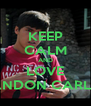 KEEP CALM AND LOVE BRANDON CARLISLE - Personalised Poster A4 size