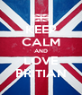 KEEP CALM AND LOVE BRITIAN - Personalised Poster A4 size