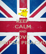 KEEP CALM AND  LOVE  BRITISH PIKACHU - Personalised Poster A4 size
