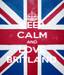 KEEP CALM AND LOVE BRITLAND - Personalised Poster A4 size