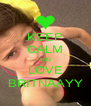 KEEP CALM AND LOVE BRITNAAYY - Personalised Poster A4 size