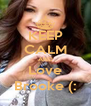 KEEP CALM AND Love Brooke (: - Personalised Poster A4 size