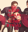 KEEP CALM AND LOVE BTR <3 - Personalised Poster A4 size