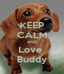 KEEP CALM AND Love  Buddy - Personalised Poster A4 size