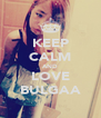 KEEP CALM AND LOVE BULGAA - Personalised Poster A4 size