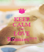 KEEP CALM and LOVE Bunnies!!!! - Personalised Poster A4 size