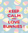 KEEP CALM AND LOVE BUNNIES ! - Personalised Poster A4 size