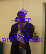 KEEP CALM AND LOVE  BUSY BLOCK - Personalised Poster A4 size