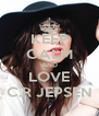 KEEP CALM AND LOVE C.R JEPSEN - Personalised Poster A4 size