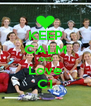 KEEP CALM AND Love C1 - Personalised Poster A4 size