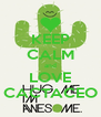 KEEP CALM and LOVE CACTACEO - Personalised Poster A4 size