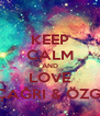 KEEP CALM AND LOVE  ÇAĞRI & ÖZGE - Personalised Poster A4 size