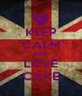 KEEP CALM AND LOVE -CAKE- - Personalised Poster A4 size