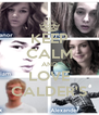 KEEP CALM AND LOVE CALDER'S - Personalised Poster A4 size