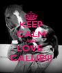 KEEP CALM AND LOVE  CALLIE!!! - Personalised Poster A4 size