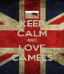 KEEP CALM AND LOVE CAMELS - Personalised Poster A4 size