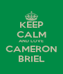 KEEP CALM AND LOVE CAMERON BRIEL - Personalised Poster A4 size