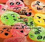 KEEP CALM AND LOVE CANDY WITH FACES ON THEM - Personalised Poster A4 size