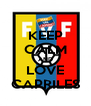 KEEP CALM AND LOVE CAPRILES - Personalised Poster A4 size