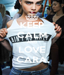 KEEP CALM AND LOVE CARA - Personalised Poster A4 size