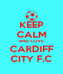 KEEP CALM AND LOVE CARDIFF CITY F.C - Personalised Poster A4 size