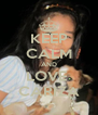 KEEP CALM AND LOVE  CARIZA - Personalised Poster A4 size