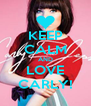 KEEP CALM AND LOVE CARLY! - Personalised Poster A4 size