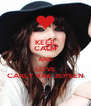 KEEP CALM AND LOVE CARLY RAE JEPSEN - Personalised Poster A4 size