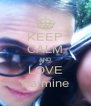 KEEP CALM AND LOVE Carmine - Personalised Poster A4 size