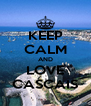 KEEP CALM AND LOVE CASCAIS - Personalised Poster A4 size