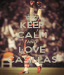 KEEP CALM AND LOVE CASILLAS - Personalised Poster A4 size