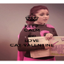 KEEP CALM AND LOVE CAT VALENTINE - Personalised Poster A4 size