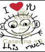 KEEP CALM AND LOVE Caterina <3 - Personalised Poster A4 size