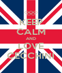 KEEP CALM AND LOVE CECCHINI - Personalised Poster A4 size