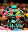 KEEP CALM AND LOVE CELIEN - Personalised Poster A4 size