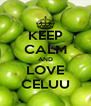 KEEP CALM AND LOVE CELUU - Personalised Poster A4 size