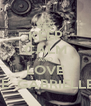 KEEP CALM AND LOVE CHANELLE  GABRIELLE GUERZO - Personalised Poster A4 size
