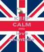 KEEP CALM AND love chantelle - Personalised Poster A4 size