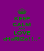 KEEP CALM AND LOVE cHaRliZe!!..* - Personalised Poster A4 size
