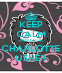 KEEP CALM AND LOVE CHARLOTTE USHER - Personalised Poster A4 size