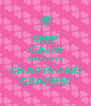 KEEP CALM AND LOVE CHARTS AND GRAPHS!! - Personalised Poster A4 size