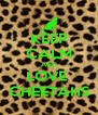 KEEP CALM AND LOVE  CHEETAHS - Personalised Poster A4 size