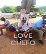 KEEP CALM AND LOVE CHEFO - Personalised Poster A4 size