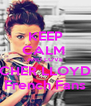 KEEP CALM  AND LOVE CHER LLOYD French Fans - Personalised Poster A4 size