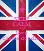 KEEP CALM AND love chesse doodles - Personalised Poster A4 size